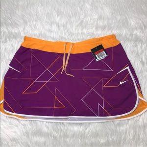 Nike Athletic skirt skort Magenta and yellow Sz L